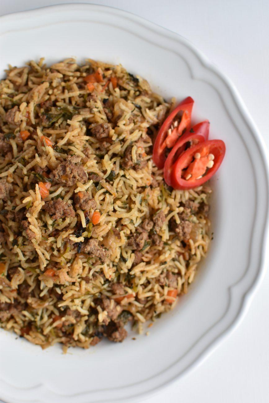 הכל בסיר אחד – אורז עם בשר טחון וירוקים